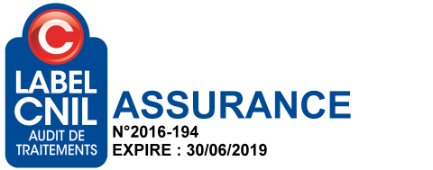 Logo Label CNIL Audit de Traitements Assurance