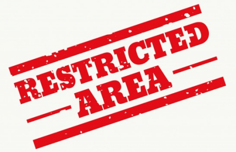 Illustration : Restricted area