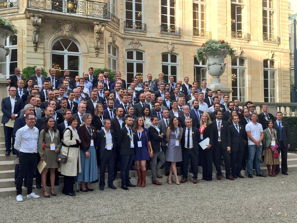 Les lauréats du Pass French Tech promotion 2017 à Matignon