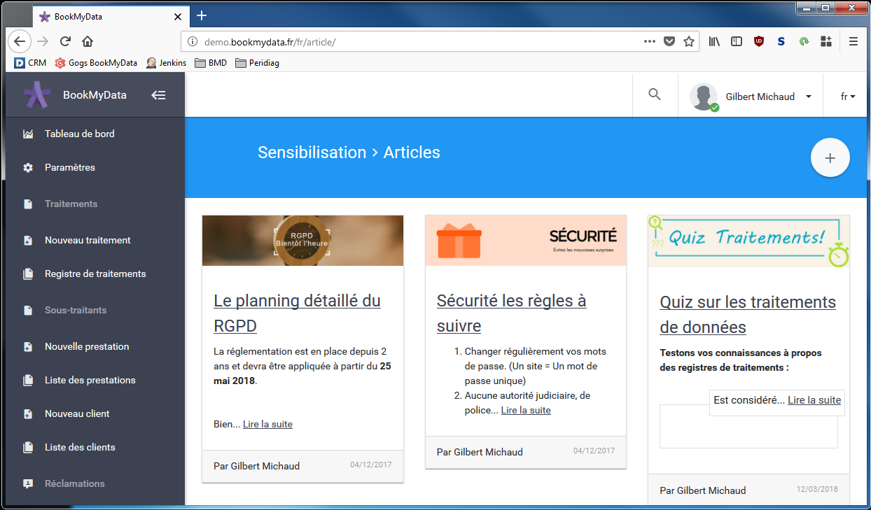 BookMyData - Sensibilisation du personnel