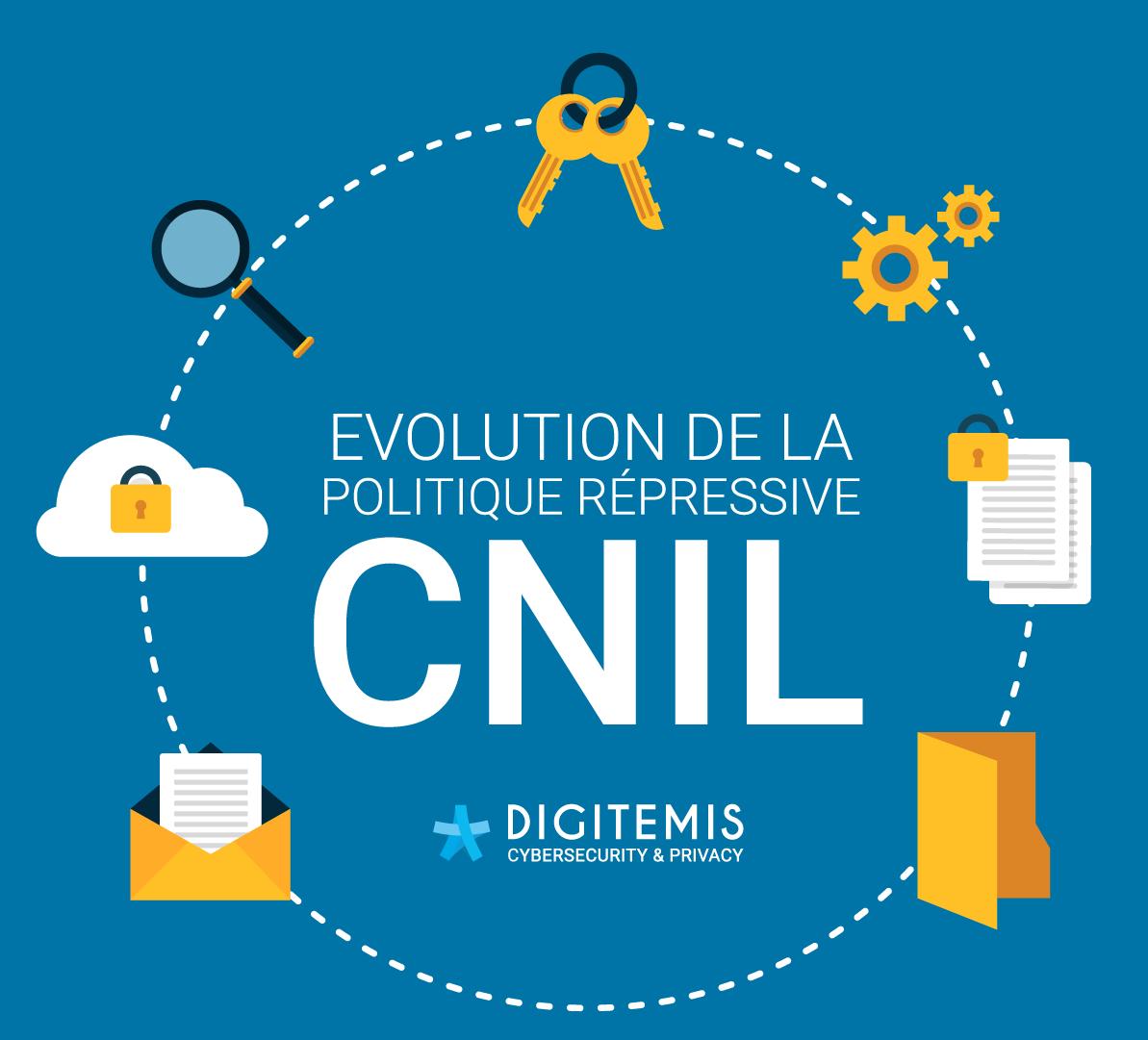 Evolution de la politique répressive de la CNIL de 2014 à 2018