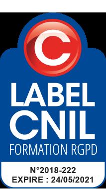 Logo Label CNIL Formation Délégué à la Protection des Données Personnelles