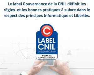 Label CNIL Gouvernance RGPD