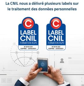 Labels CNIL Formation RGPD