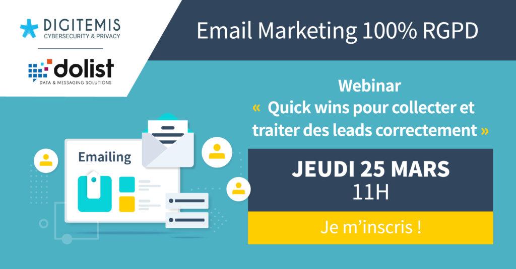 webinar email marketing RGPD compliant